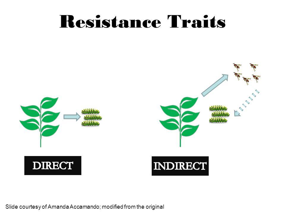 Resistance Traits Slide courtesy of Amanda Accamando; modified from the original
