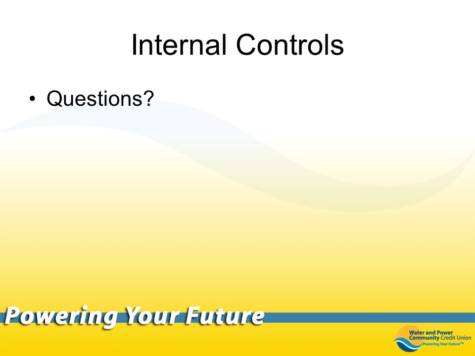 Internal Controls Questions