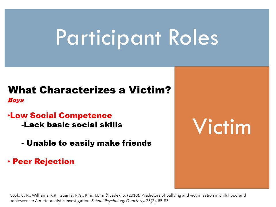 What Characterizes a Victim.