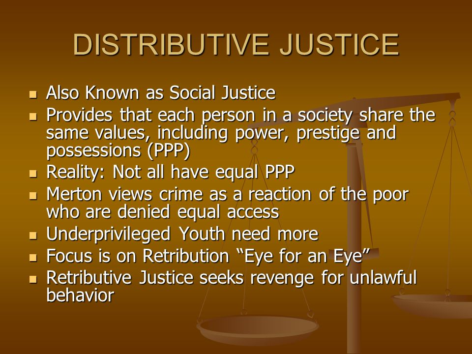 RESTORATIVE JUSTICE Focuses on repairing the harm done to victims & community by having offenders contribute to the repair of wrong Focuses on repairing the harm done to victims & community by having offenders contribute to the repair of wrong Compared to Retributive Justice, which seeks punishment, Restorative Justice seeks to restore the needs of victim, community and offender Compared to Retributive Justice, which seeks punishment, Restorative Justice seeks to restore the needs of victim, community and offender