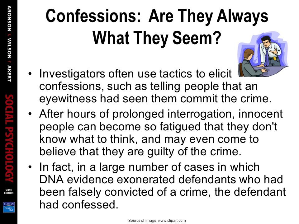 Confessions: Are They Always What They Seem.