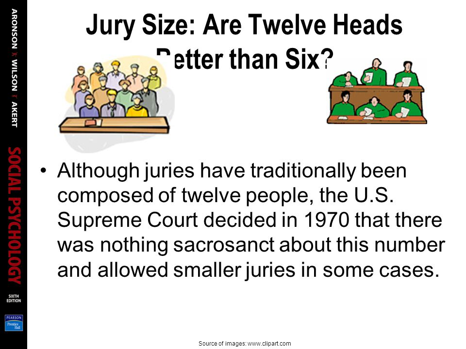 Jury Size: Are Twelve Heads Better than Six.