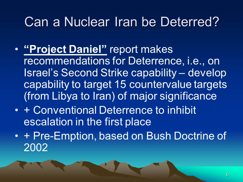 6 Can a Nuclear Iran be Deterred.