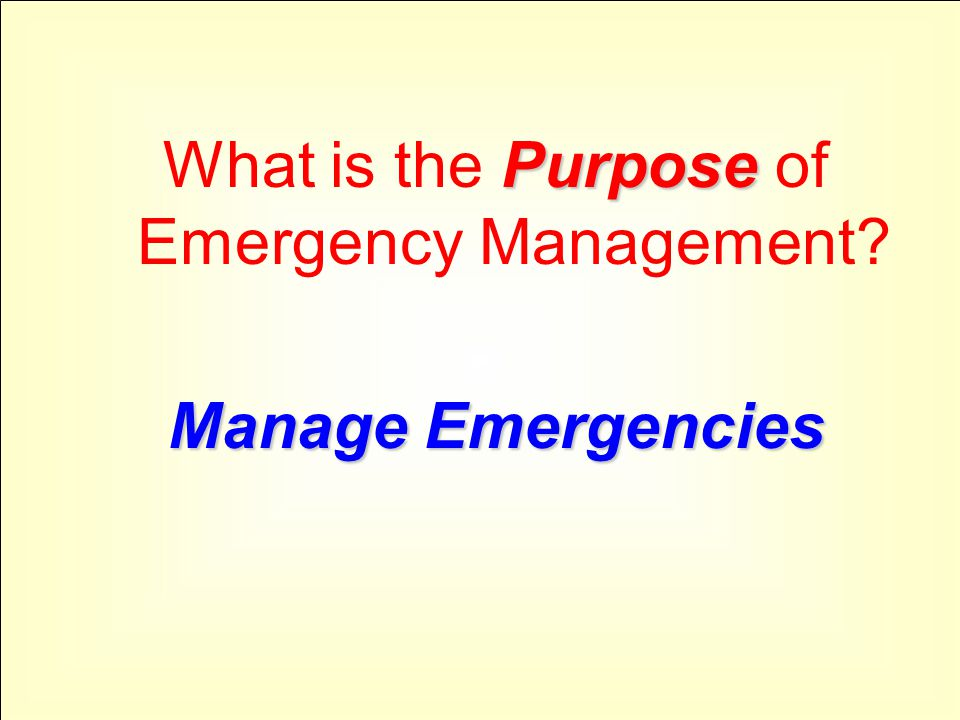 With What are Emergencies Managed With? Capability Emergency Management Capability