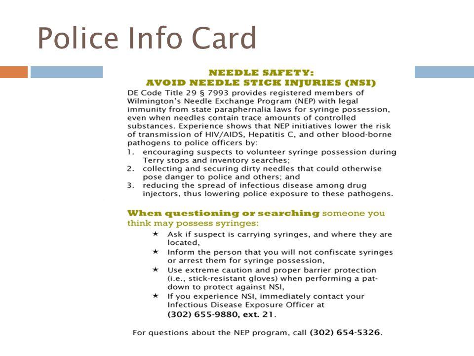 Police Info Card