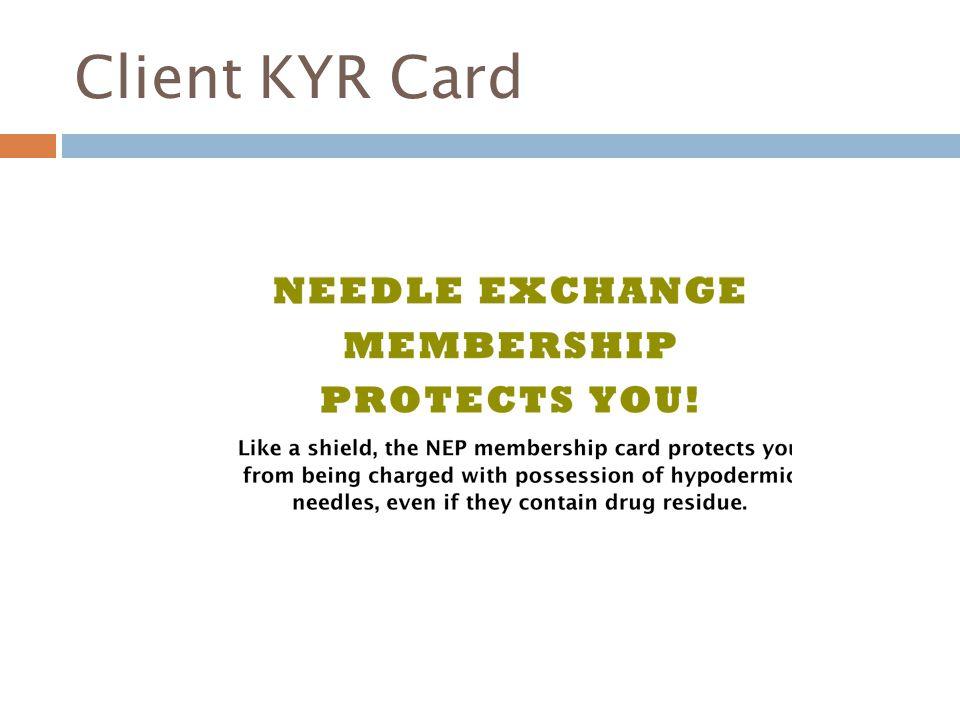 Client KYR Card