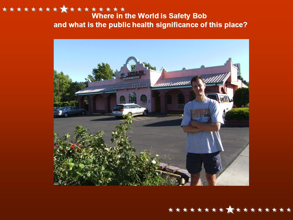 Where in the World is Safety Bob and what is the public health significance of this place?