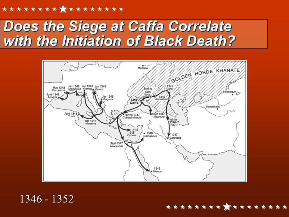 Does the Siege at Caffa Correlate with the Initiation of Black Death? 1346 - 1352