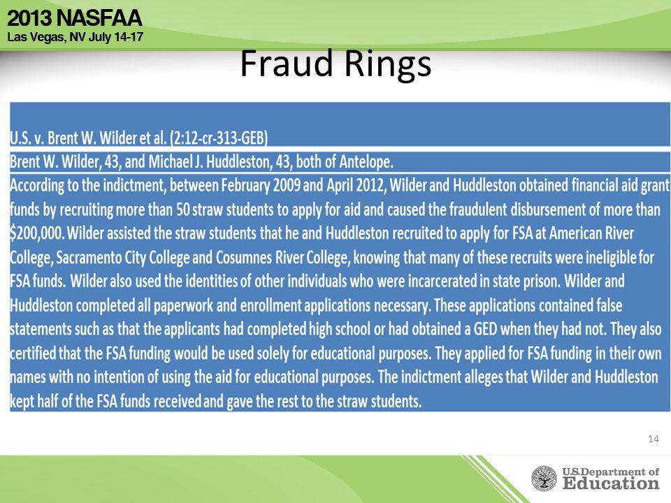 Fraud Rings 14
