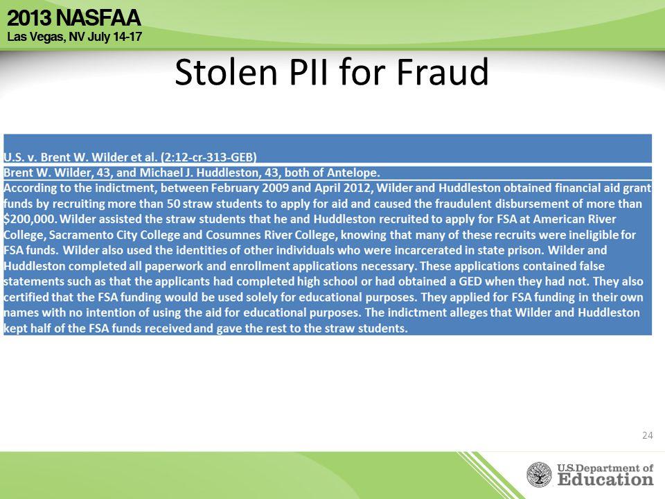 Stolen PII for Fraud 24