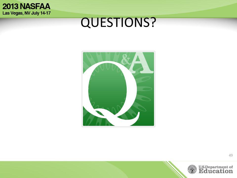 QUESTIONS? 49