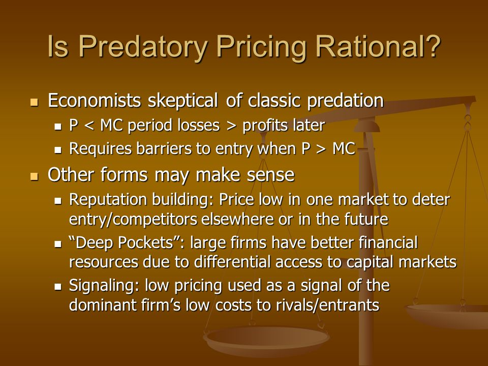 Is Predatory Pricing Rational.