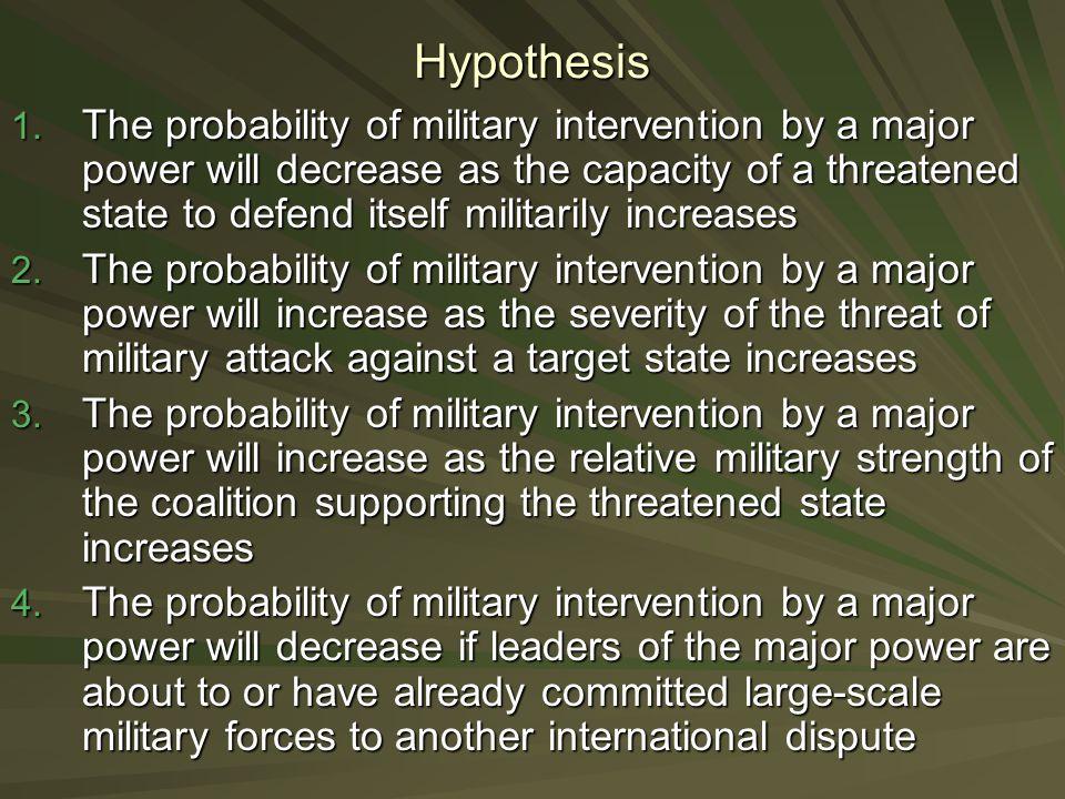 Hypothesis 1.