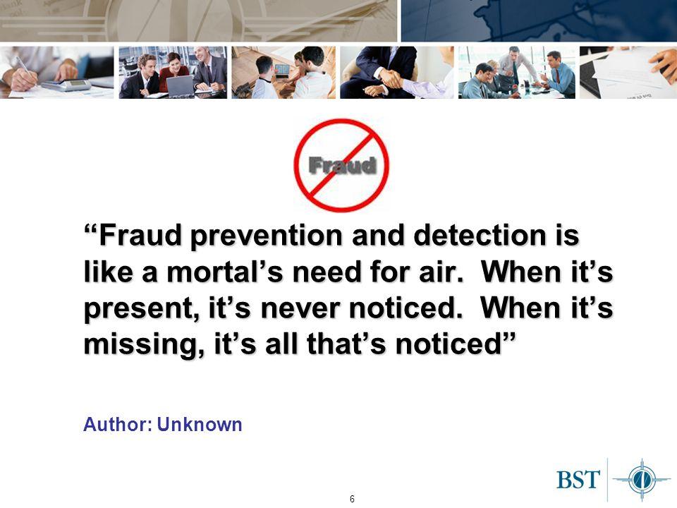 7 Why must we address fraud.
