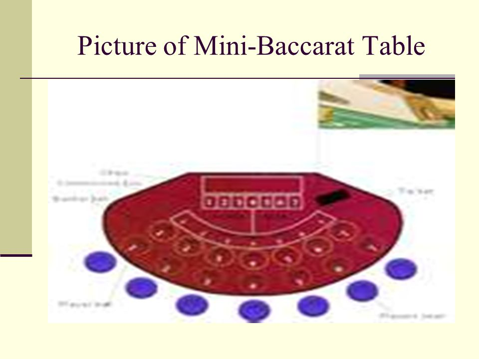 Picture of Mini-Baccarat Table