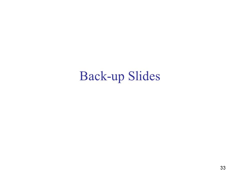 Back-up Slides 33