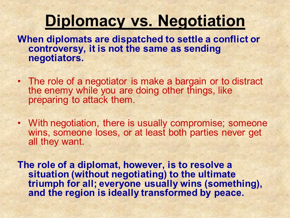 What is a Diplomat.