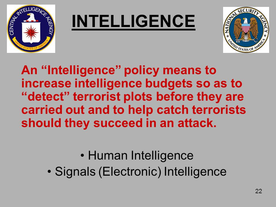 Intelligence Indicators of Terrorism Indicators are usually thought of as factors of risk.