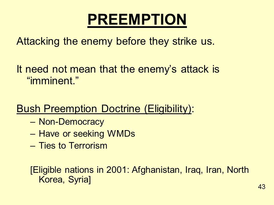 Paul Wolfowitz [Architect of the Bush Preemption Doctrine]