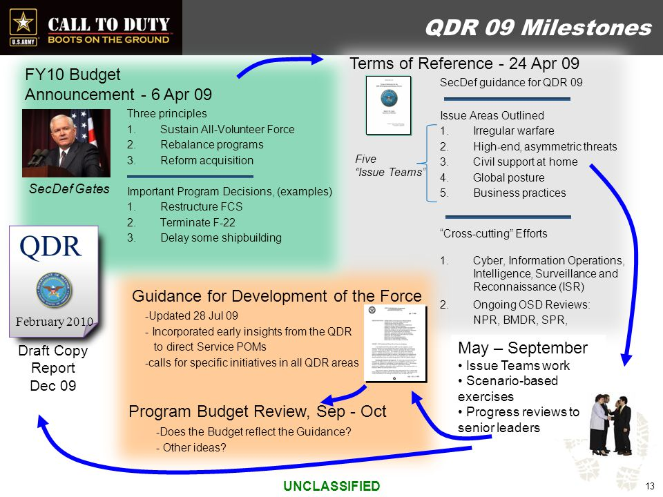 Goals of the Army Our goal is to build a versatile mix of tailorable and networked organizations, operating on a rotational cycle, to provide a sustained flow of trained and ready forces for current commitments and to hedge against unexpected contingencies at a sustainable tempo for our all-volunteer force.