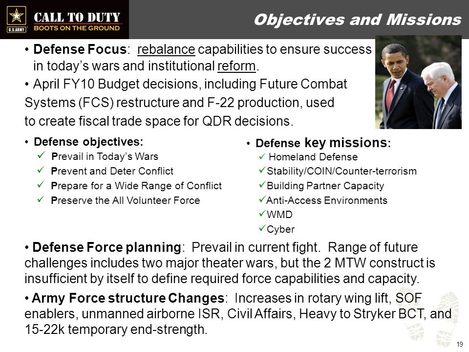 2010 QDR – Key Army Outcomes  Recognizes rotational readiness model and near-term planning objective of 1:2 and 1:5 for AC and RC forces, respectively  Increases capacity of rotary-wing lift assets  Expands manned and unmanned aerial systems for ISR  Converts one HBCT to SBCT, with potential for more conversions  Retains four BCTs and Army Corps HQ in Europe, pending posture review  Increases key enablers for SOF  Institutionalizes general purpose force capabilities for Security Force Assistance (SFA)  Restructures domestic CBRNE consequence management response forces  Enhances regional, language, and cultural skills/capabilities  Establishes a standing JTF WMD Elimination capability  Establishes Service Component Commands to support USCYBERCOM  Describes requirement for an operational RC as well as strategic reserve UNCLASSIFIED 20