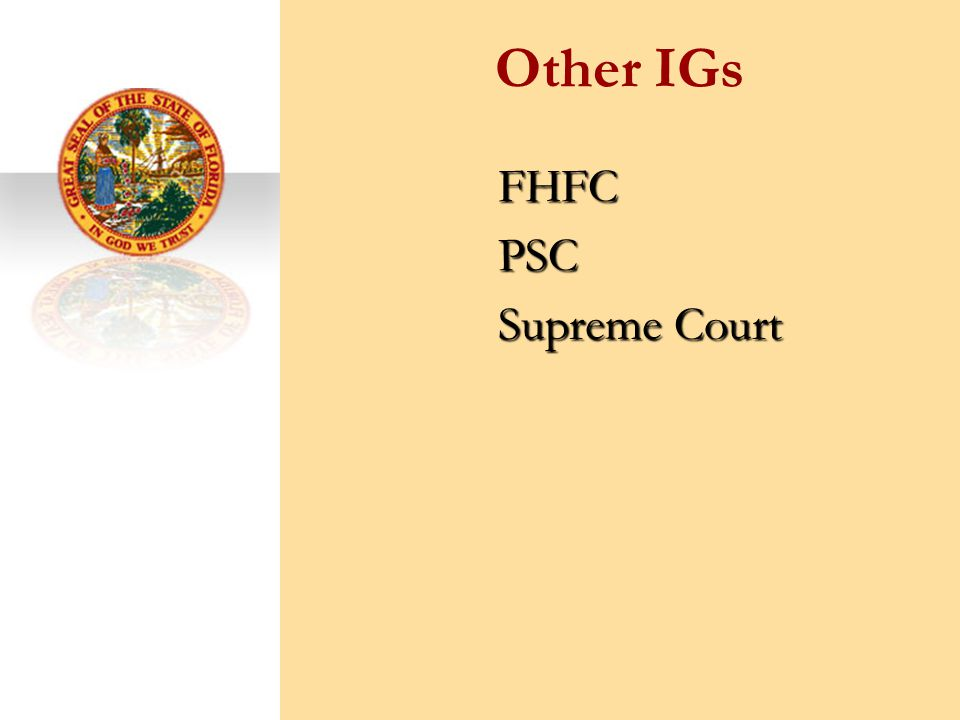 Other IGs FHFCPSC Supreme Court