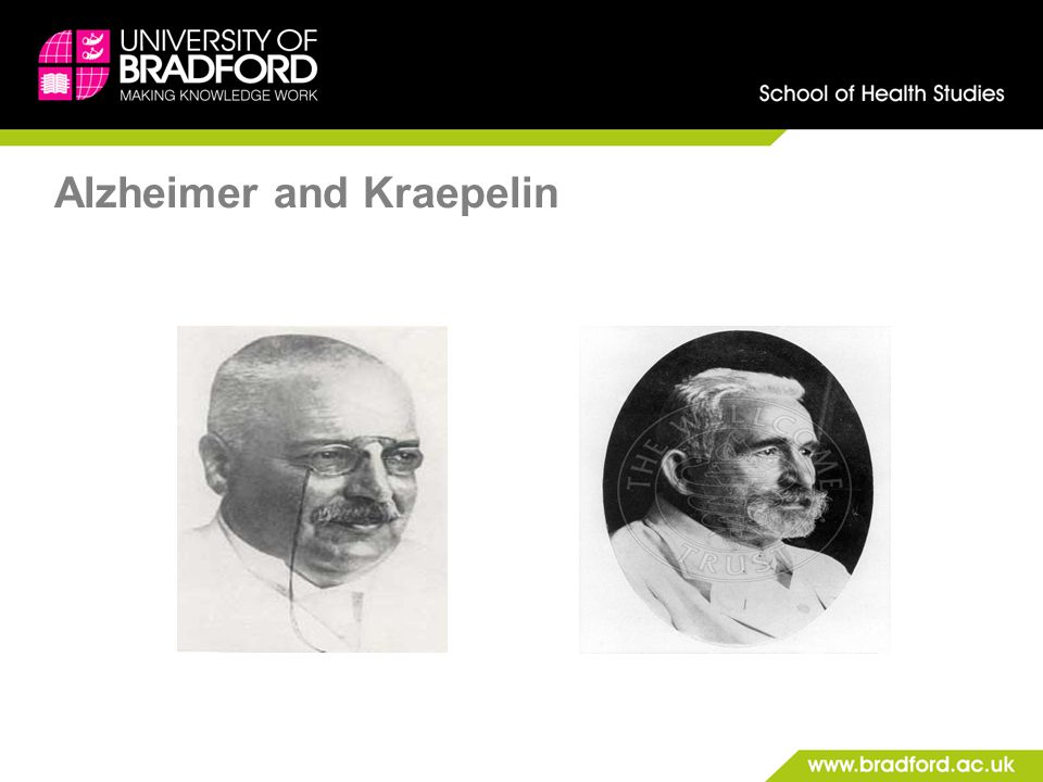 Alzheimer and Kraepelin
