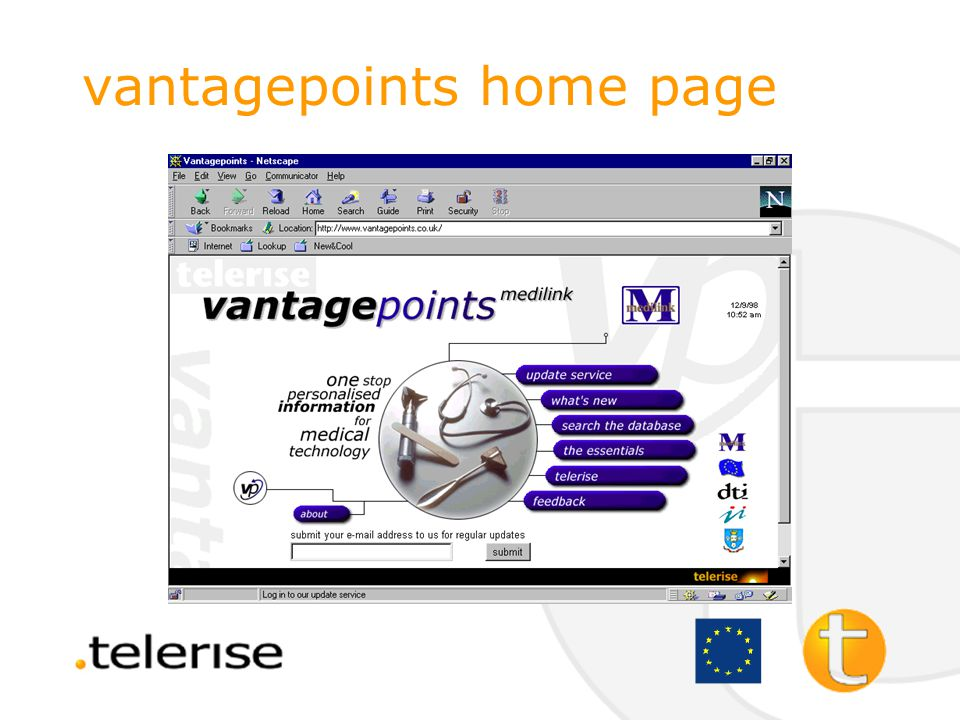 vantagepoints one stop service for individual business sectors who want information from the web combats information overload includes exclusively evaluated information
