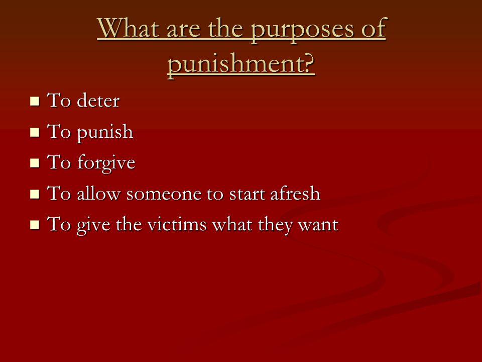 B Hoose 'The ethics of punishing criminals' Punishment sometimes doesn't deter or reform.