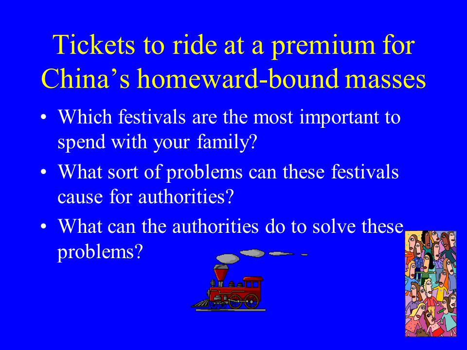 Tickets to ride at a premium for China's homeward-bound masses 2004 UE Section C MC Continuity