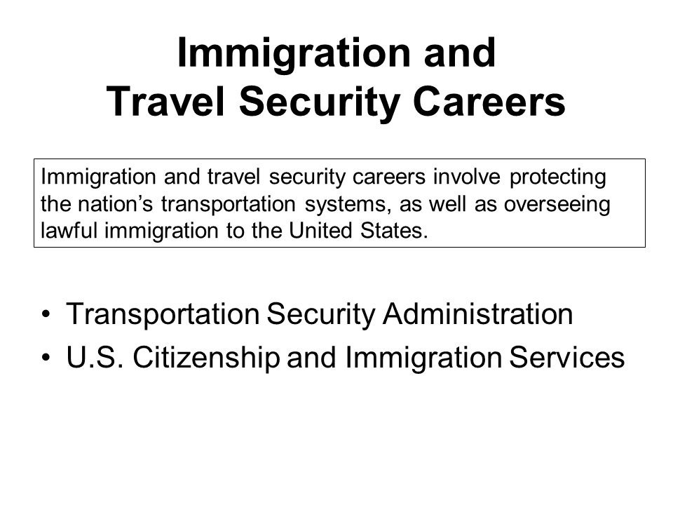 Immigration and Travel Security Careers Transportation Security Administration U.S.