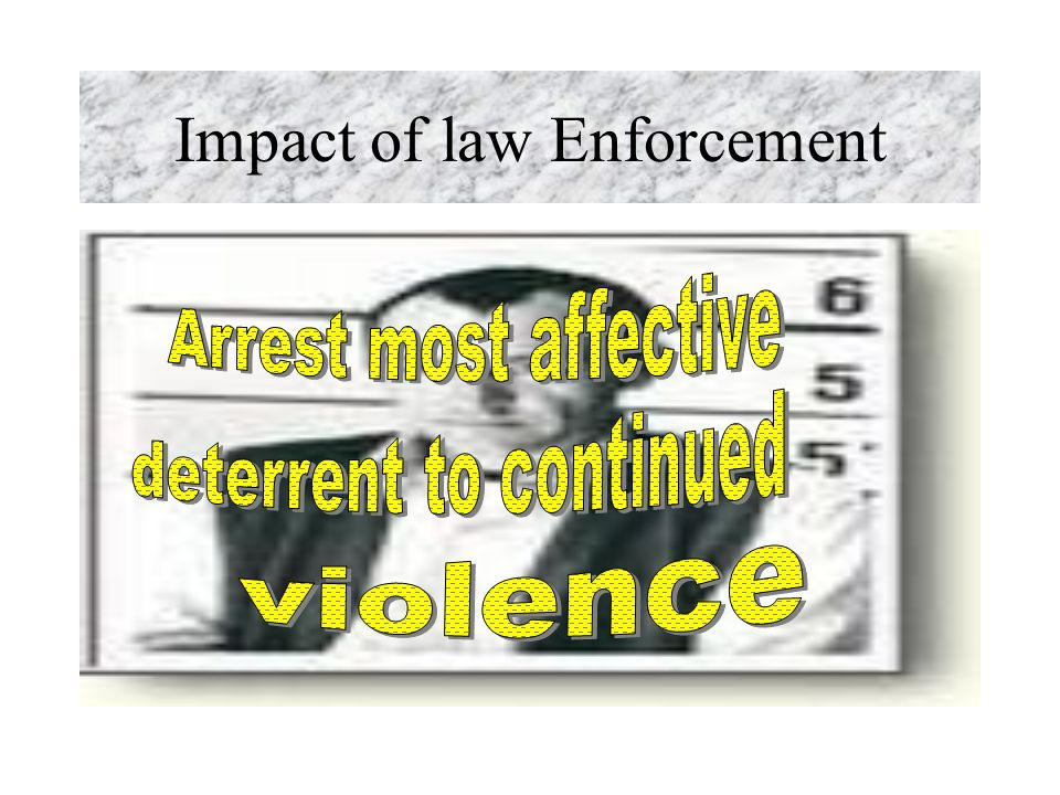 Impact of law Enforcement