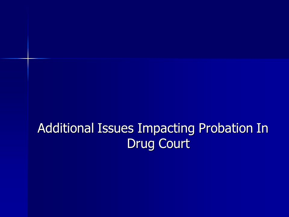 Additional Issues Impacting Probation In Drug Court