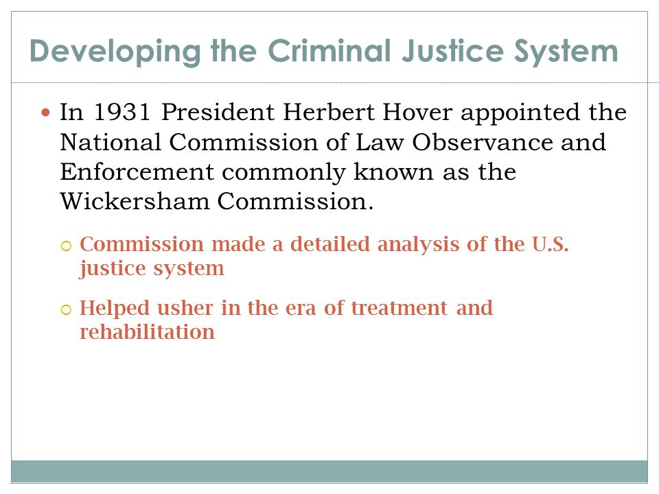 Perspectives in Perspective During the past decade crime control and equal justice models have dominated Rehabilitation, due process, and the least- intrusive treatment have not been abandoned There is no single view that is the right or correct view