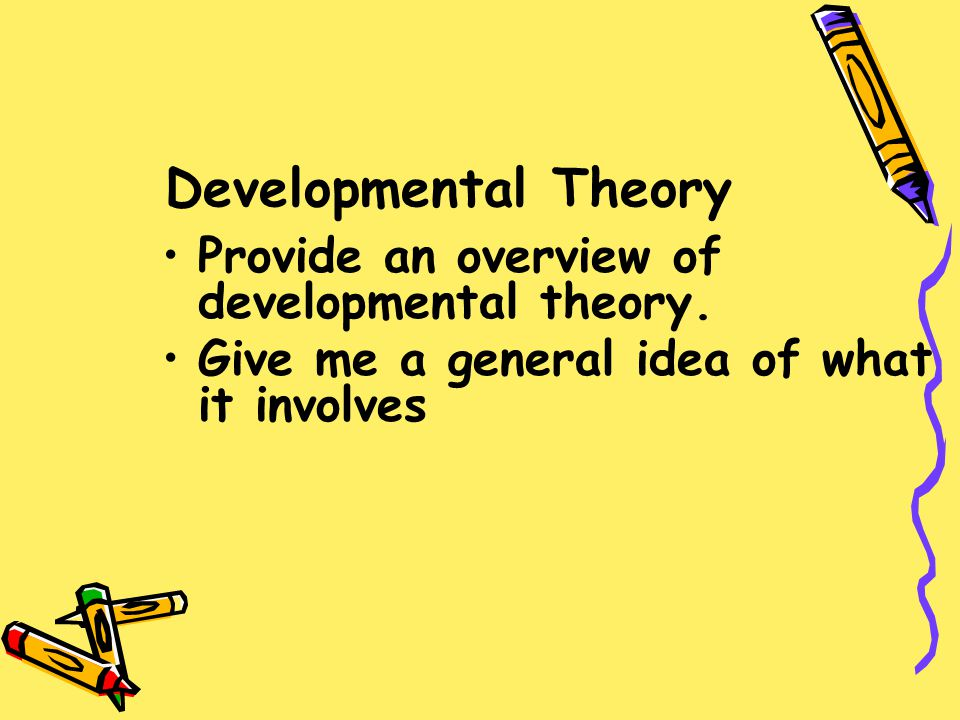 What are several of the developmental factors this theory addresses.