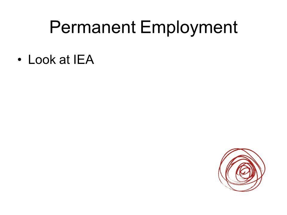Permanent Employment Look at IEA