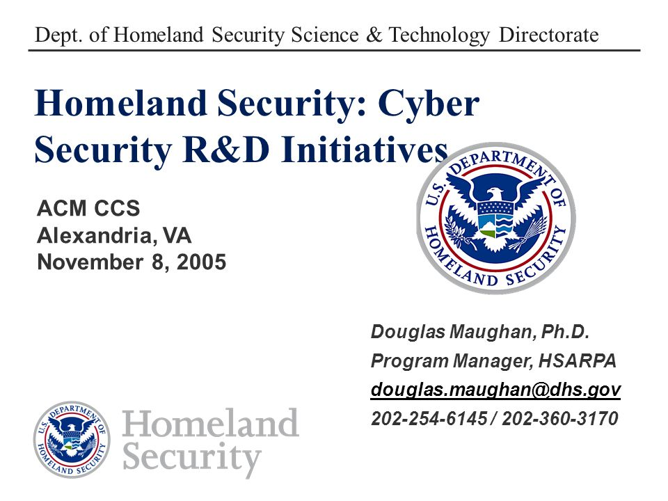 8 November 200512 R&D SBIRs BAAs DNSSEC Cyber Security Assessment SPRI Emerging Threats Rapid Prototyping External (e.g., I3P) R&D Execution Model Solicitation Preparation Pre R&D CIP Sector Roadmaps Workshops Customers Critical Infrastructure Providers Critical Infrastructure Providers Customers * NCSD * NCS * USSS * National Documents Other Sectors e.g., Banking & Finance Prioritized Requirements R&D Coordination – Government & Industry Experiments and Exercises Post R&D Outreach – Venture Community & Industry Supporting Programs PREDICTDETER