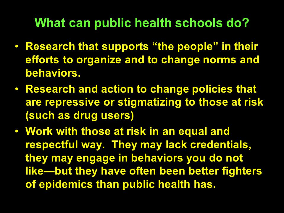 What can public health schools do.