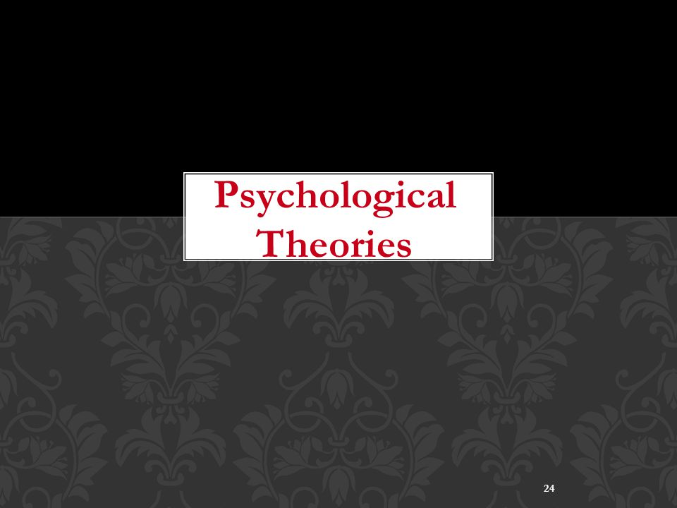 24 Psychological Theories
