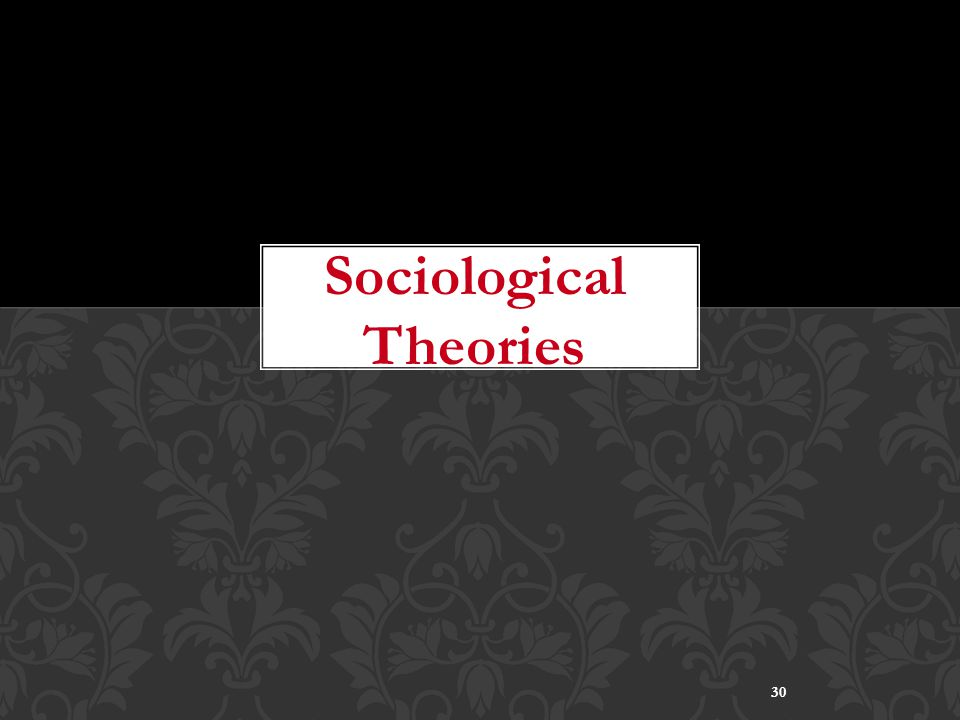 30 Sociological Theories