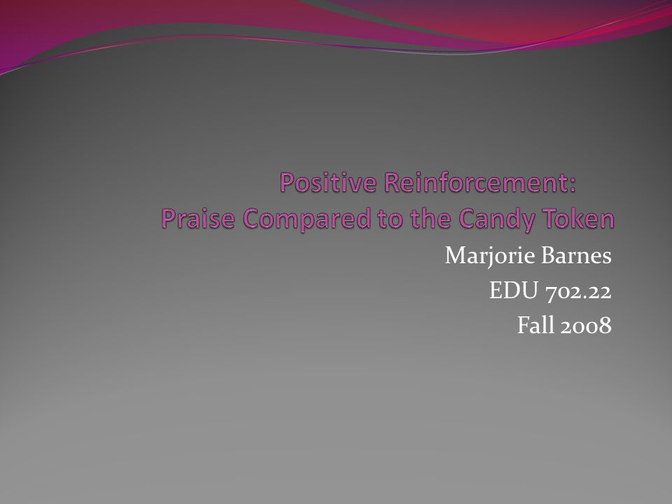 Marjorie Barnes EDU 702.22 Fall 2008