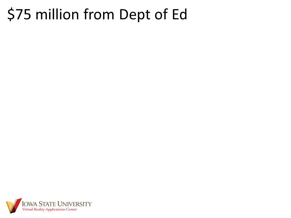 $75 million from Dept of Ed