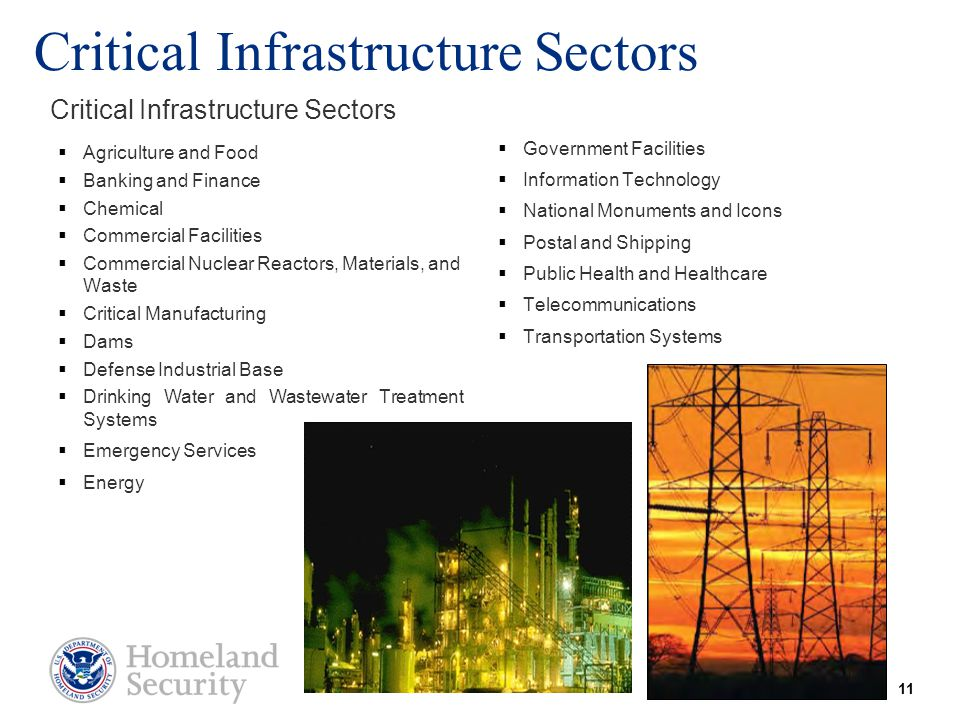Critical Infrastructure Sectors  Agriculture and Food  Banking and Finance  Chemical  Commercial Facilities  Commercial Nuclear Reactors, Materia