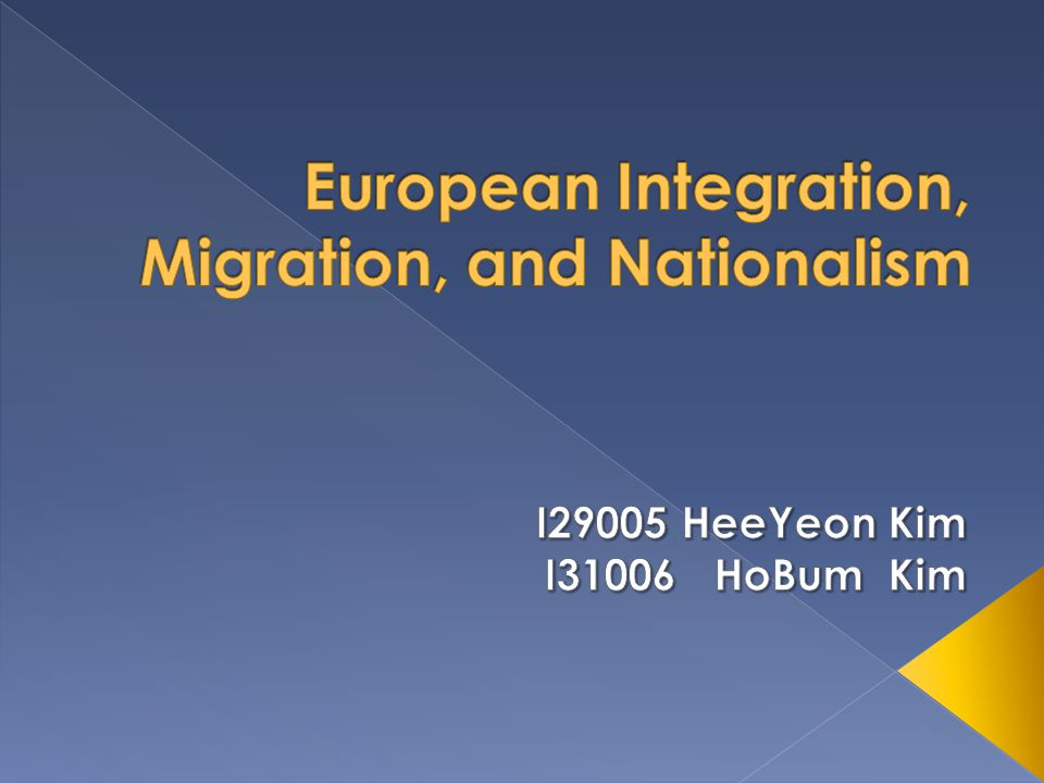  European integration has a long history  Migration policies have also been changed  Immigration is now at the center of European politics, and presents the EU and its member states  European governments have to prepare themselves for the next wave of immigration