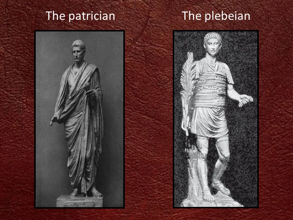 The patricianThe plebeian
