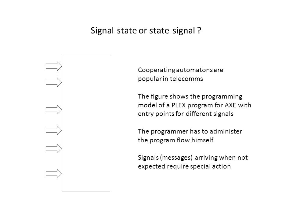 Signal-state or state-signal .
