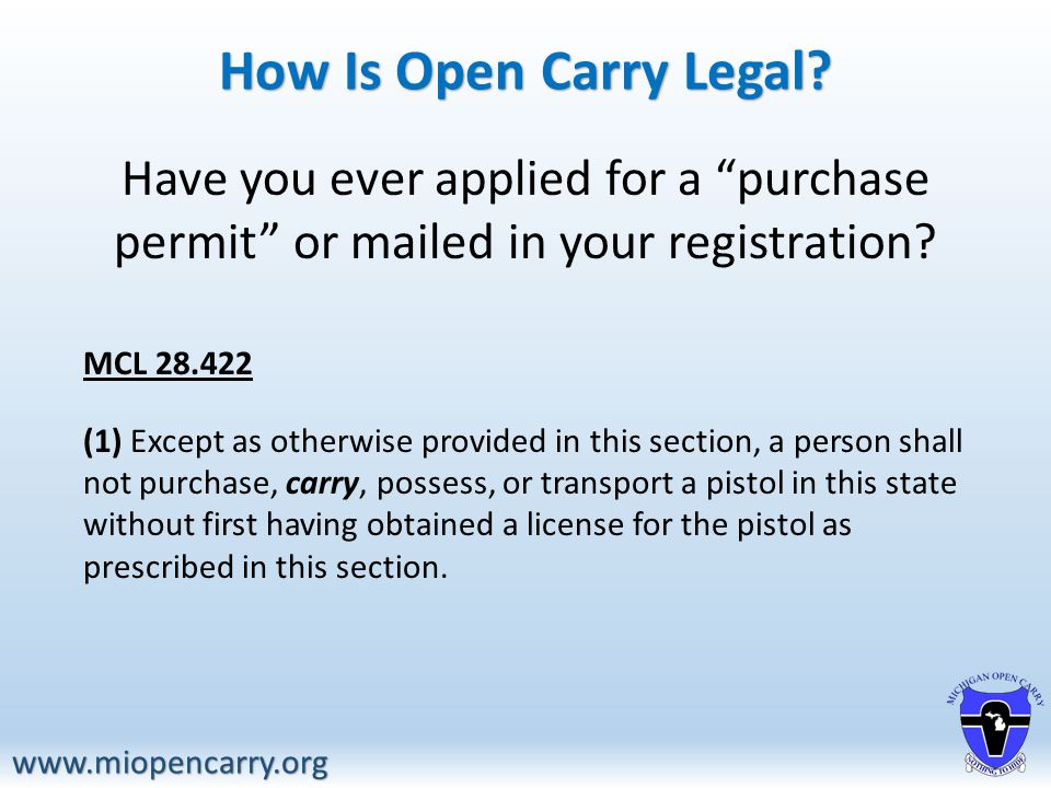 How Is Open Carry Legal.