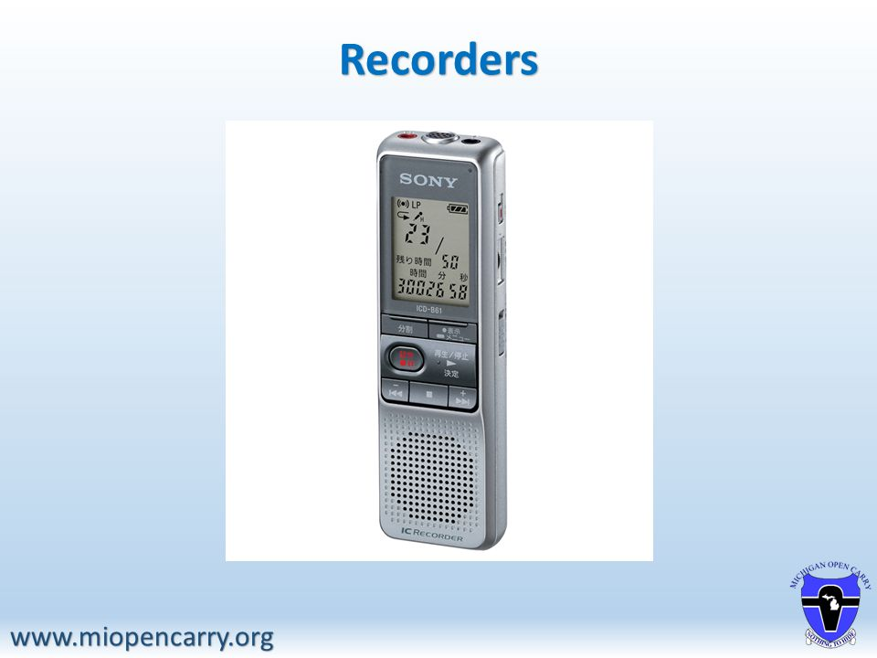 Recorders www.miopencarry.org