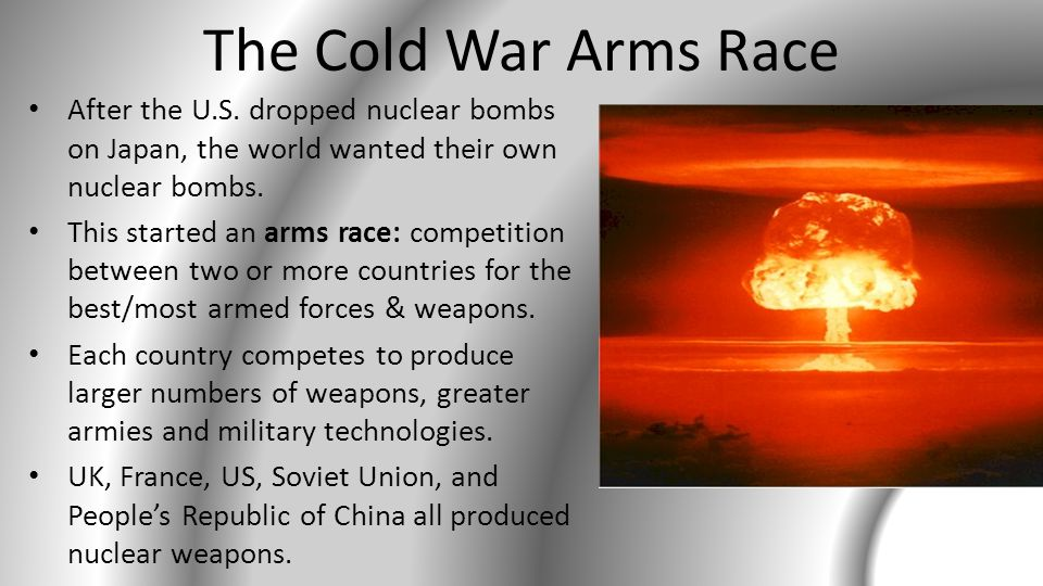 End of the Arms Race Economic problems led to arms control agreements beginning in the 1970s.