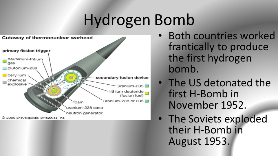Hydrogen Bomb Explosion US exploded its first hydrogen bomb in 1952.
